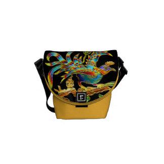 Exotic Cloisonné Bird Bag Commuter Bag