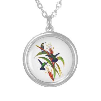 Exotic Colorful Hummingbirds Pendant