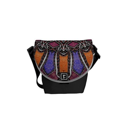 Exotic Colourful Kaleidoscope Mandala Commuter Bag