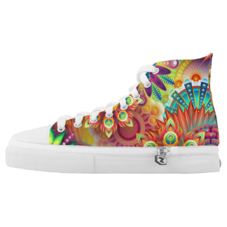 Exotic colourful shoes. high tops
