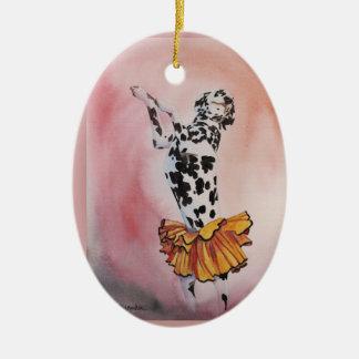 Exotic Dancer Ceramic Oval Decoration