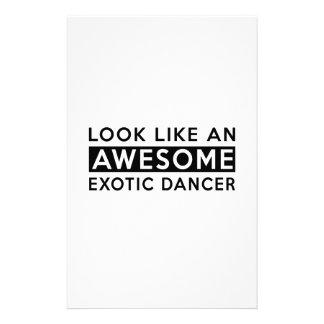 EXOTIC DANCER DESIGNS STATIONERY PAPER