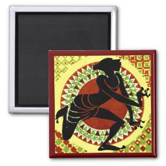 Exotic Dancer Square Magnet