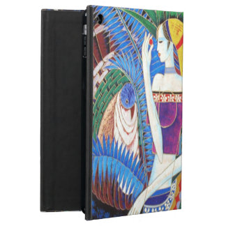 exotic decorative girl portrait abstract art cover for iPad air