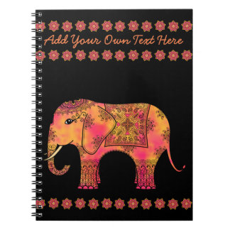 Exotic Eastern Indian Elephant Tangle Doodle Notebook