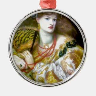 Exotic extravagant woman painting christmas ornaments
