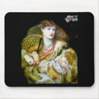 Exotic extravagant woman painting mouse pad