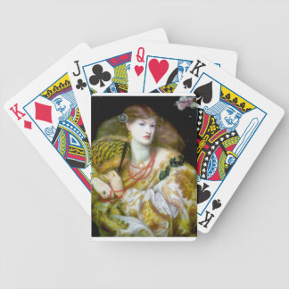 Exotic extravagant woman painting bicycle card deck