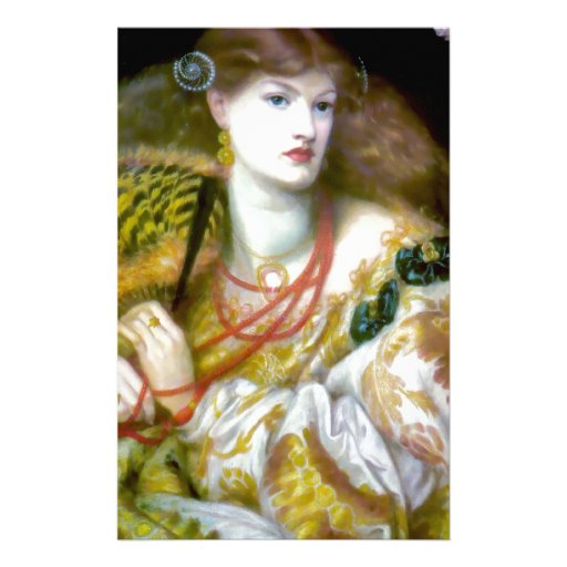 Exotic extravagant woman painting customized stationery