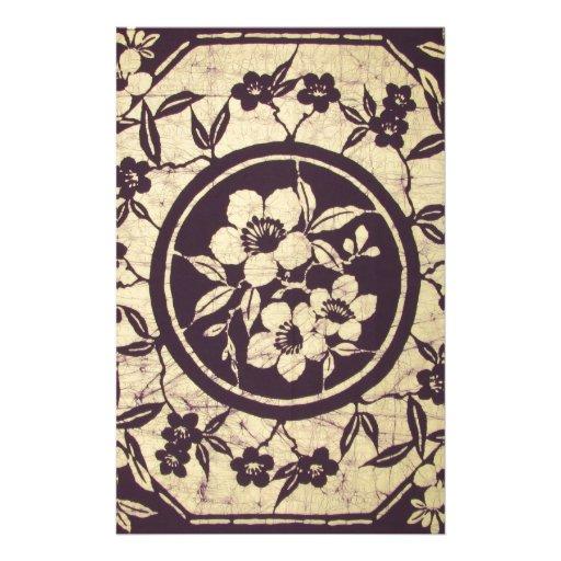 Exotic Fabric Design Customized Stationery