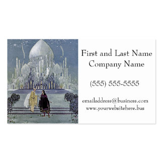 Exotic Fairy Tale Prince and Princess Illustration Pack Of Standard Business Cards