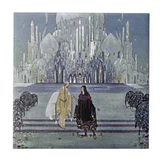 Exotic Fairy Tale Prince and Princess Illustration Tile