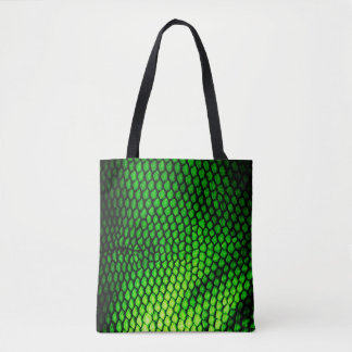 Exotic Faux Iquana Scales Green Animal Print Tote Bag