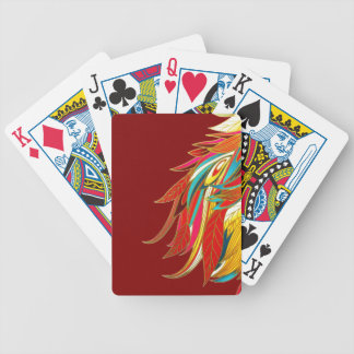 Exotic Feathers Bicycle Playing Cards