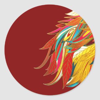 Exotic Feathers Classic Round Sticker