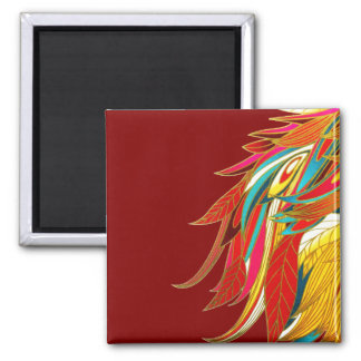 Exotic Feathers Magnet