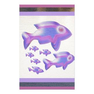 Exotic Fish FAMILY Customized Stationery