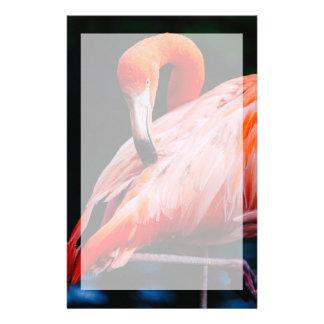 Exotic Flamingo Portrait Stationery Paper