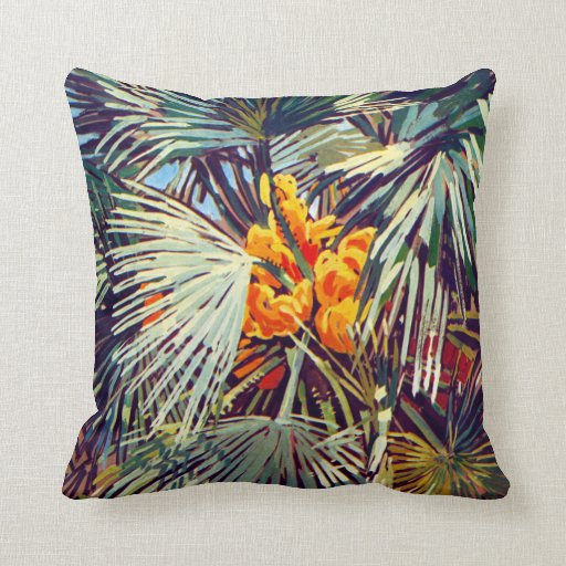 Exotic Flora #2 at SunshineDazzle Throw Pillow