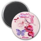 Exotic Floral for Mum Magnet