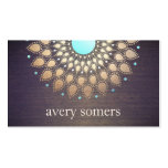 Exotic Floral Gold Ornate Lotus Flower Wood Pack Of Standard Business Cards