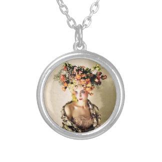 Exotic Floral Headpiece Pendant