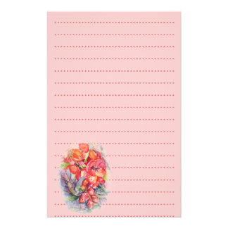 Exotic floralwedding list planner stationery paper