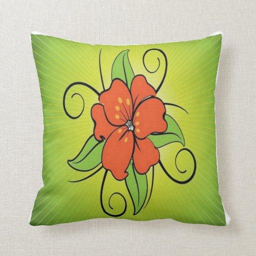 Exotic Flower Throw Pillows