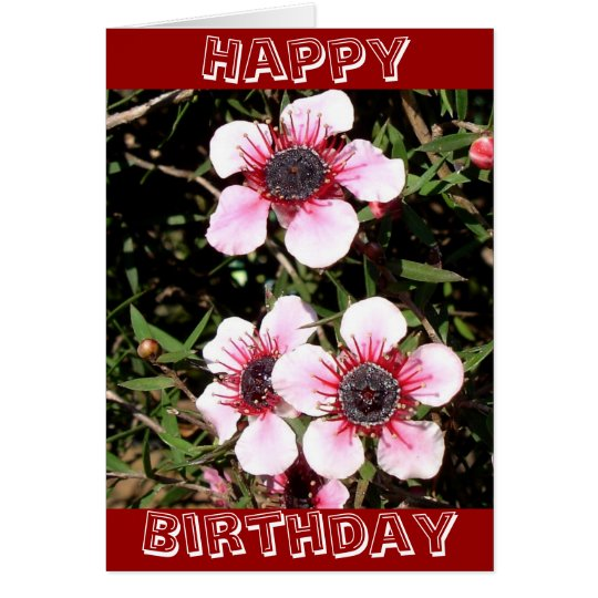 Exotic flowers birthday card