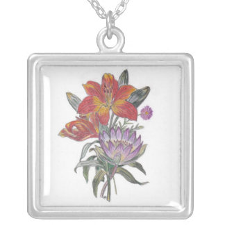 Exotic Flowers Necklace