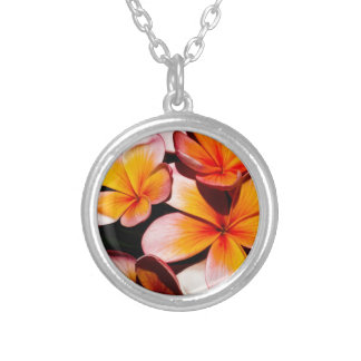 EXOTIC FLOWERS PERSONALIZED NECKLACE