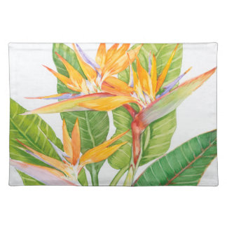 Exotic Flowers Watercolor Placemat