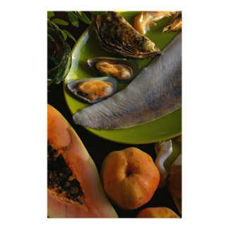 Exotic food stationery