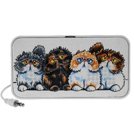 Exotic Foursome Cats Laptop Speakers