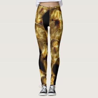 Exotic fruit gold leggings