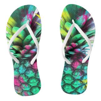 exotic fruit  pineapple flip flops