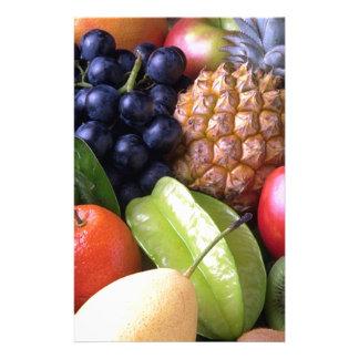 Exotic fruits stationery design