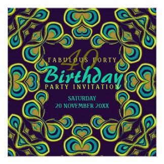 Exotic Goddess Fabulous 40 Party Invitation