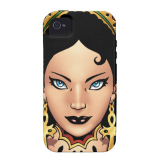 Exotic Gothic Queen with Ankh Earrings by Al Rio Vibe iPhone 4 Case