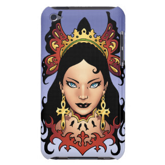 Exotic Gothic Queen with Ankh Earrings by Al Rio iPod Touch Cases