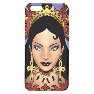 Exotic Gothic Queen with Ankh Earrings by Al Rio iPhone 5C Cover