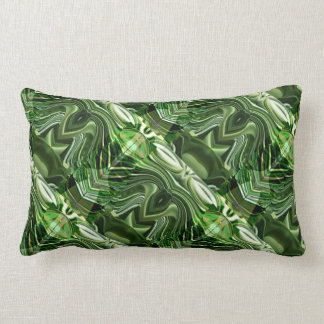 Exotic Green Chops : Artistic Colorful OneOFaKIND Pillows