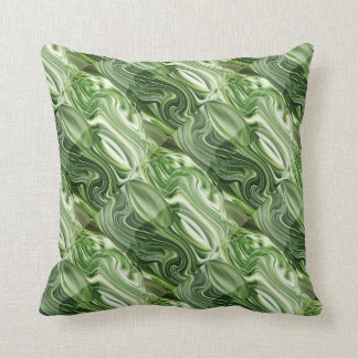 Exotic Green Vegies : Artistic Colorful OneOFaKIND Throw Cushion