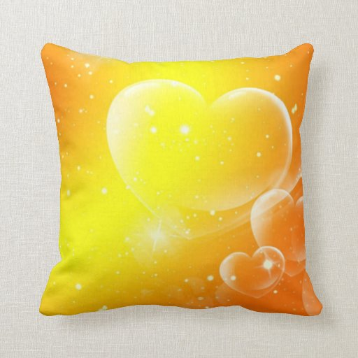 Exotic Hearts And Stars Pillow
