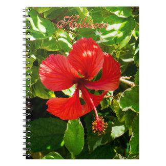 Exotic HIbiscus Spiral Notebook