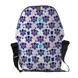 exotic india peacock pattern commuter bags
