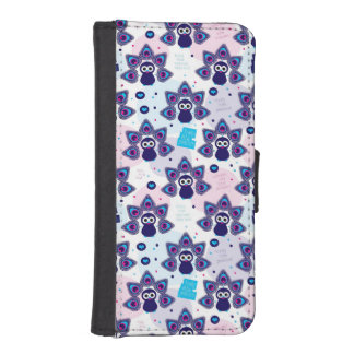 exotic india peacock pattern iPhone SE/5/5s wallet case