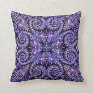 Exotic Jewels Lilac Throw Pillow