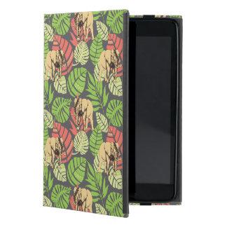 Exotic Jungle Leaves And Elephants Case For iPad Mini