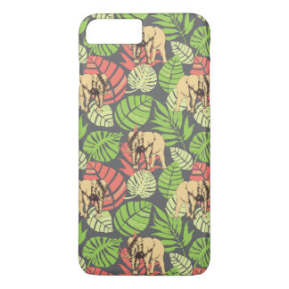 Exotic Jungle Leaves And Elephants iPhone 8 Plus/7 Plus Case